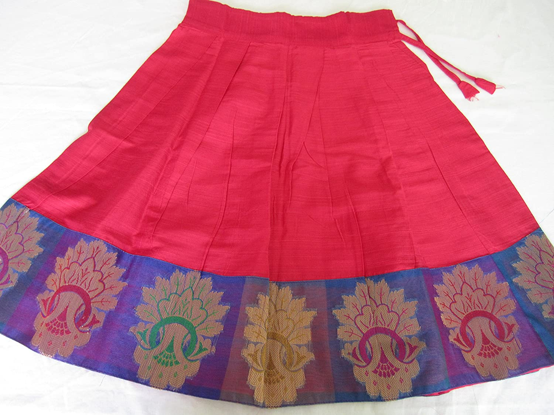 fabb29ae2 Amazon.com  Pink and Blue Pattu Pavada Pattu Parikini for baby girls ...