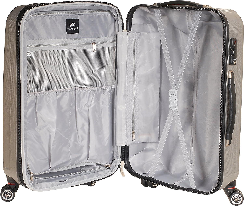 Gray Mancini Santa Cruz 20 Lightweight Carry-on Spinner Luggage