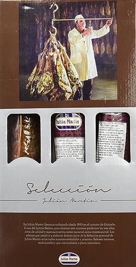 Julián Martín Chorizo Ibérico Bellota Extra, Salchichón y Lomo - 1700 gr