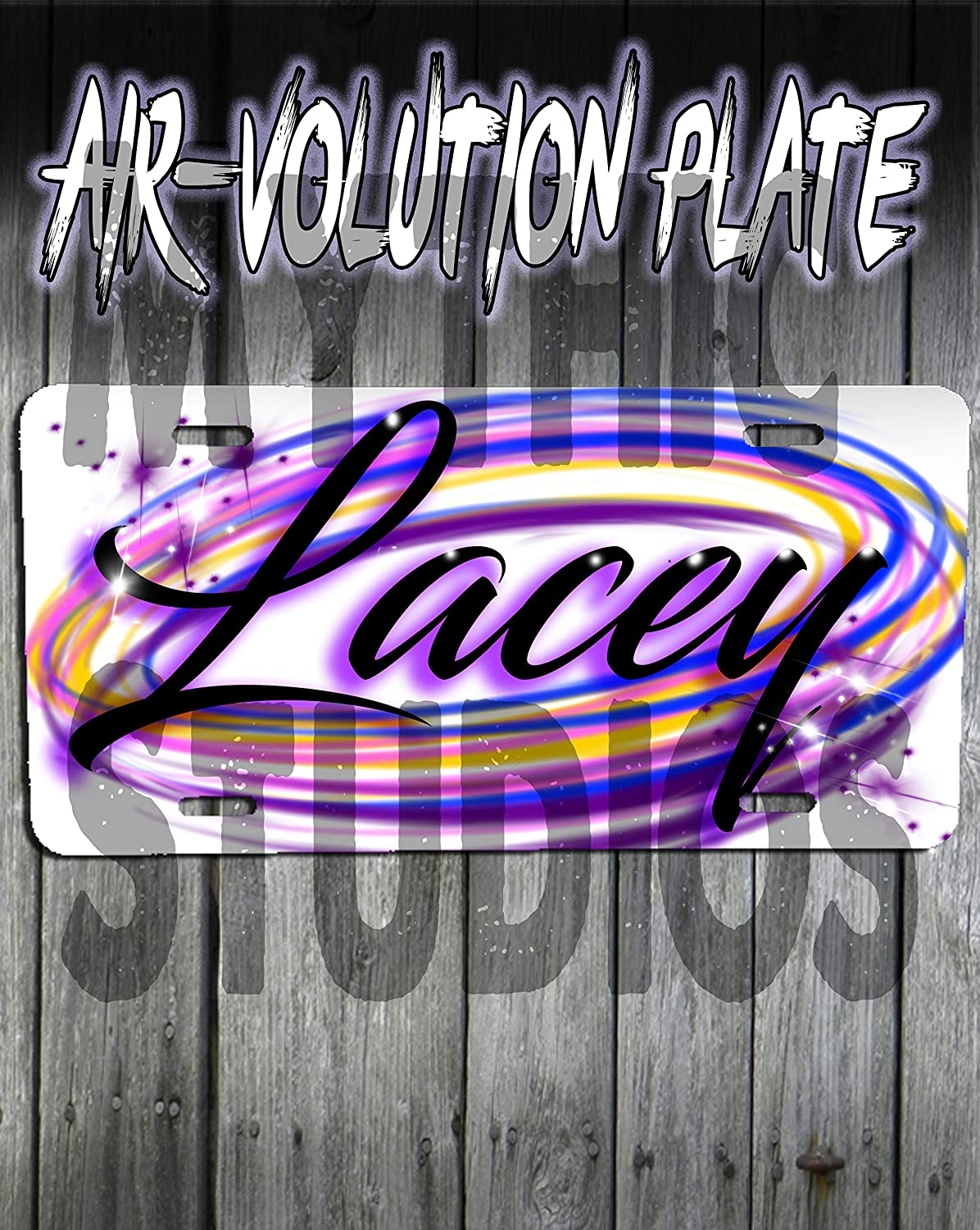Personalized Airbrush Name Design License Plate Tag