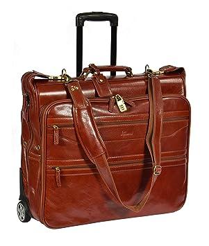 Réal Cuir Noir Roues Holdall Duffle Gym Bagages De Cabine Voyage Weekend Bag Pete uteOPUhA