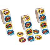Superhero Sticker Roll - 300 STICKERS - BUY BULK AND SAVE !