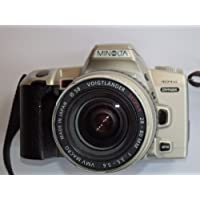 Minolta Dynax 404si–Fotocamera reflex SLR Camera–Analogico–Solo corpo/Gomma Colore Argento # # Ingegneria–Testato–Funziona–by lll Group # #