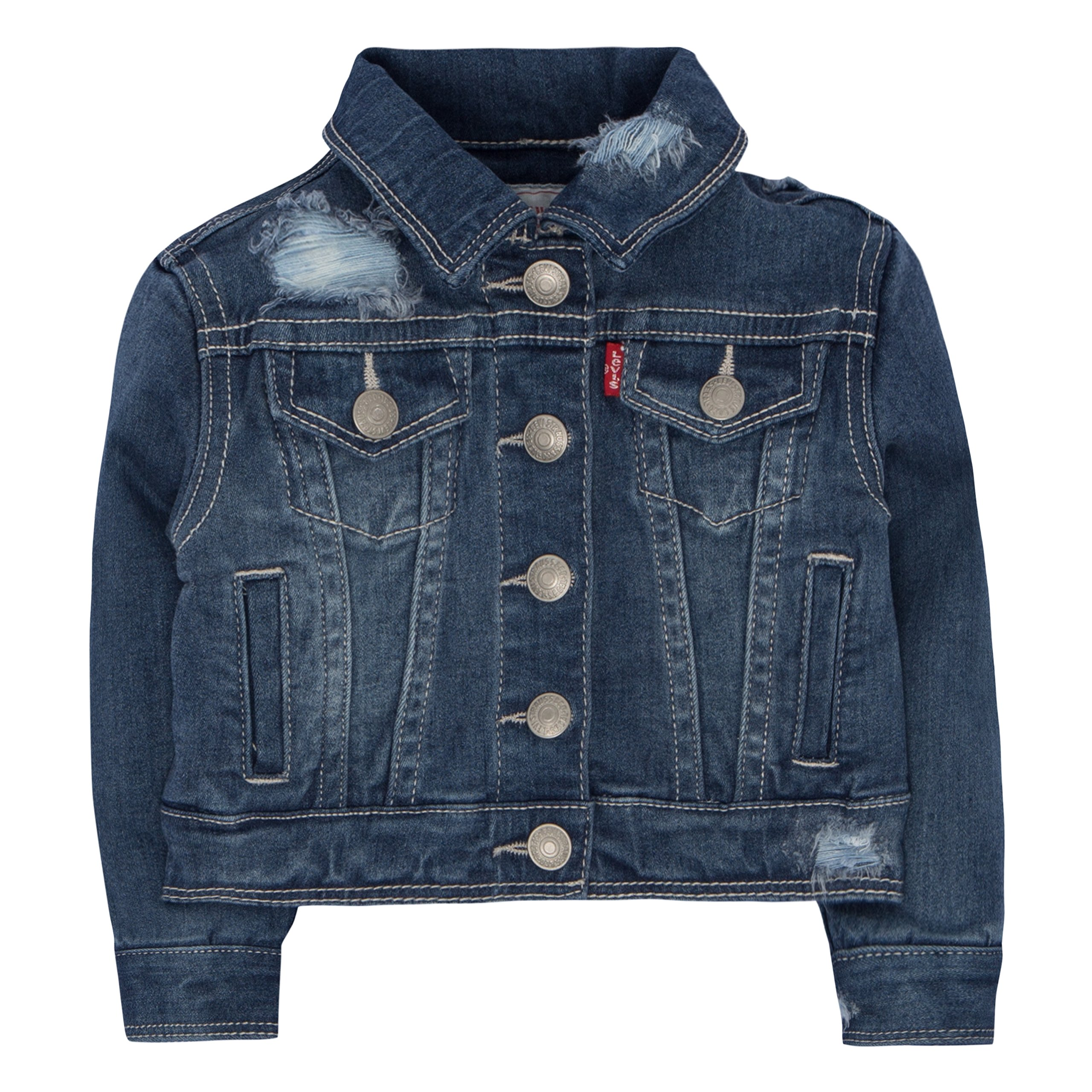 Levi's Baby Girls' Trucker Jacket, Vintage Waters, 24M by Levi's