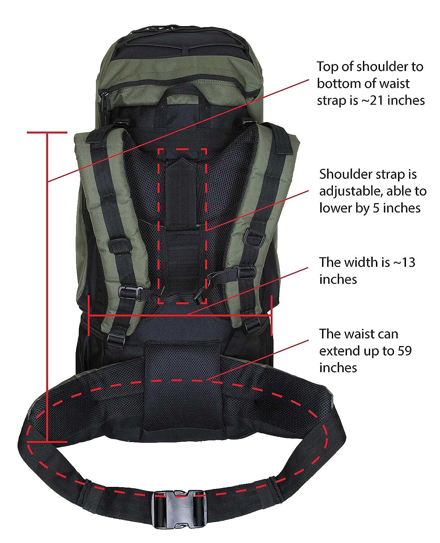 Amazon.com : HBAG Discovery 80L 5400ci Internal Frame Camping ...