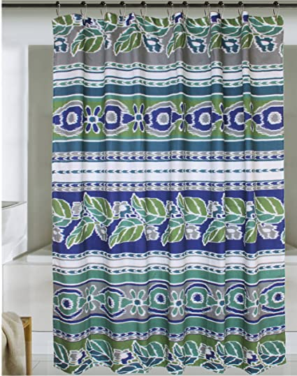 Jovi Home Mediterranean Ikat Shower Curtain 72 Inch X Blue