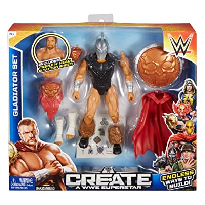 Create a WWE Superstar Triple H Gladiator Set, Package May Vary: Toys & Games