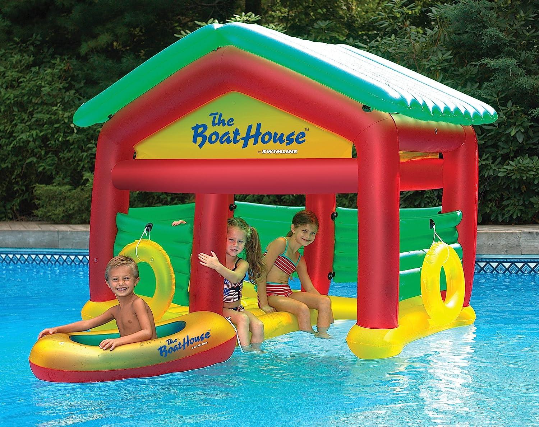 amazoncom boathouse floating swimming pool habitat garden outdoor