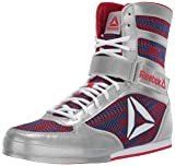 Reebok Men's Boot Boxing Shoe, Silver/Primal