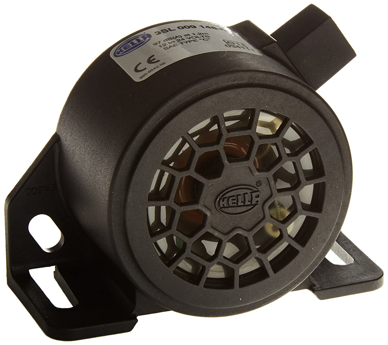 HELLA 009148141 Black 9V//48V 110 Db Back-Up Alarm