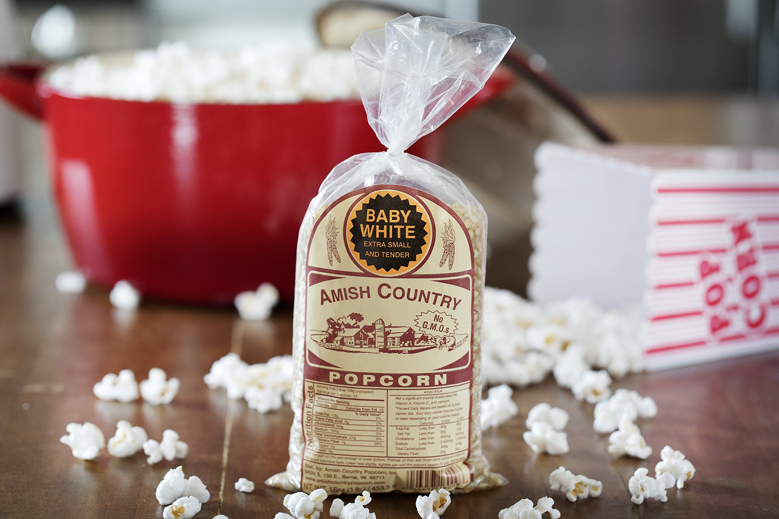 Amish Country Popcorn - Baby White (1 Pound Bag) Small & Tender Popcorn - Old Fashioned And Delicious, with Recipe Guide by Amish Country Popcorn (Image #3)