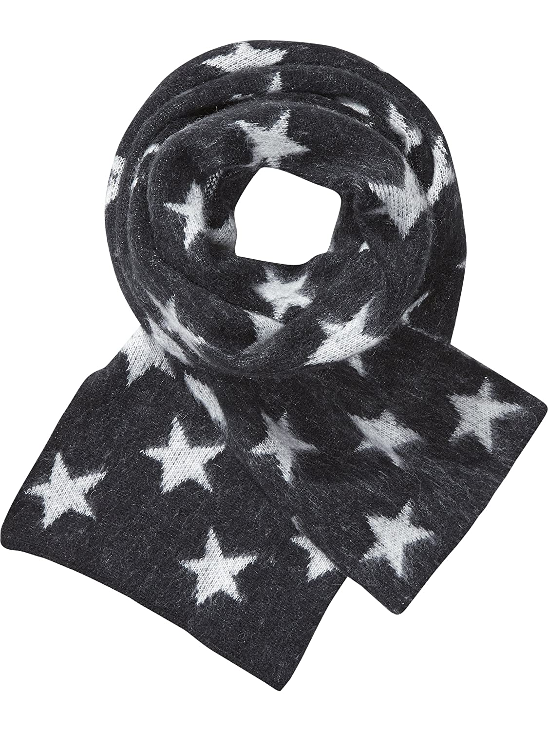 Maison Scotch Damen Umschlagtuch Fluffy Star Patterned Scarf