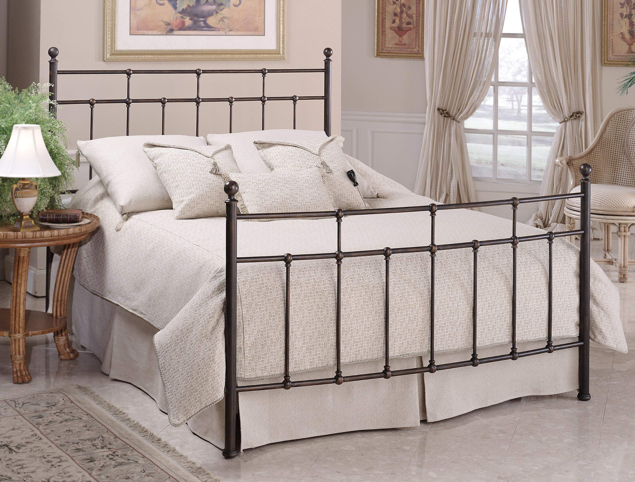 Hillsdale Furniture 380BKR Providence Bed Set with with Rails, King, Antique Bronze