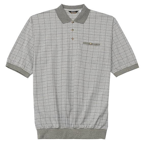 4862892dcd4 LD Sport Big and Tall Mens Jacquard Knit Banded Bottom Shirt (GREY 4X-T