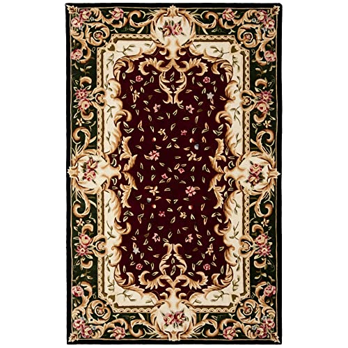 Safavieh Naples Collection Handmade Wool Area Rug, 4 x 6 , Red Green