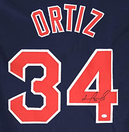 pretty nice 9201a a0e14 David Ortiz Boston Red Sox Signed Autographed Blue #34 ...