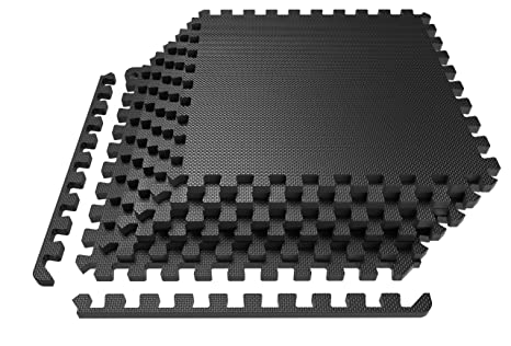 LEVOIT Puzzle Exercise Mat, Premium EVA Foam Interlocking Tiles, Protective  Flooring for Gym Equipment and Cushions for Workouts, 24 SQ FT (6 Tiles,