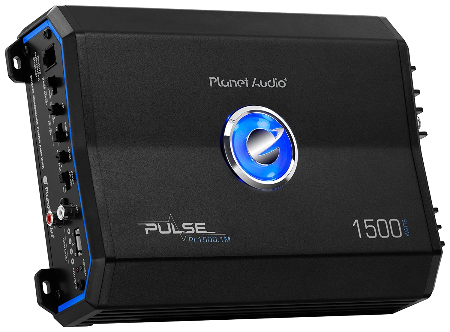 Planet Audio Pl15001m Pulse 1500 Watt 2 Ohm Stable Collection Scheme Power Amplifier High Mosfets Class A B Monoblock Mosfet Car With Remote Subwoofer Control