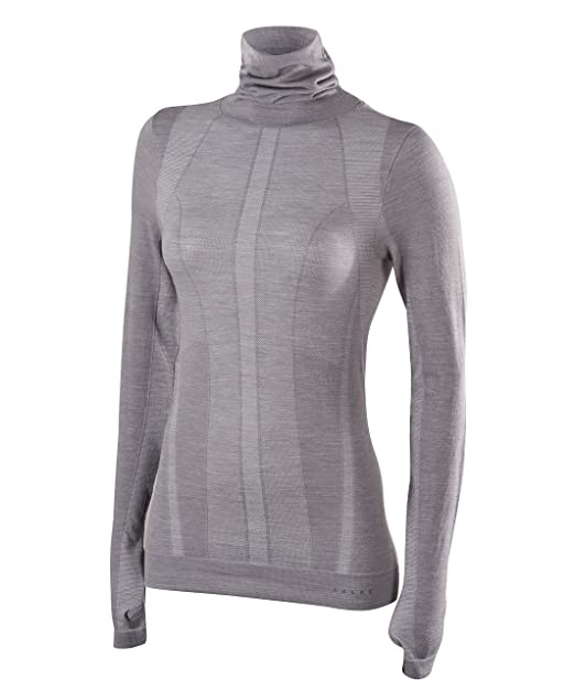 ideal for ski virgin wool mix Sweat wicking protection in cold to very cold temperatures Long Sleeve Comfort Fit top fast drying FALKE ESS Women Wool Tech Sizes XS-XL multiple colours warm