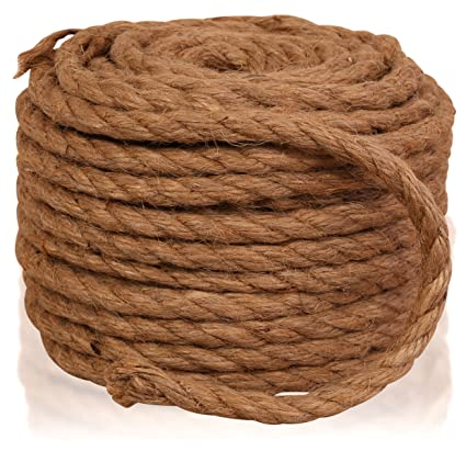 Twisted Sisal Rope, 1/4-Inch by 50-Feet, All Natural Sisal Fiber Hemp Rope  Cord, Cat Scratching Post Replacement, for Arts Crafts, DIY, Decoration,