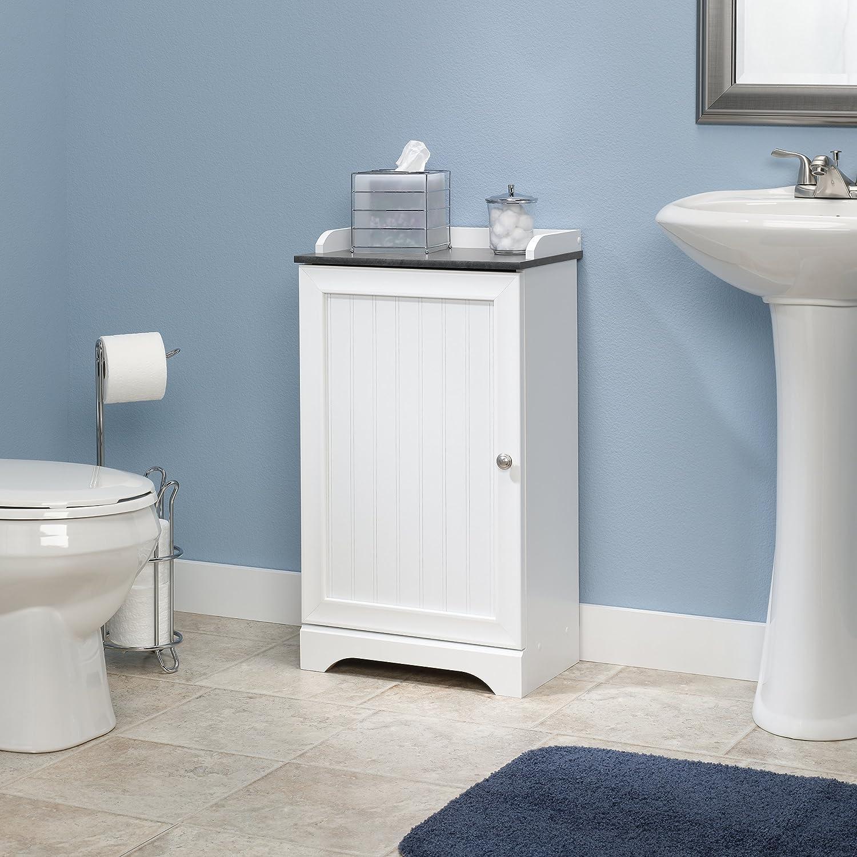 Amazon.com: Sauder Caraway Floor Cabinet in soft white: Kitchen & Dining