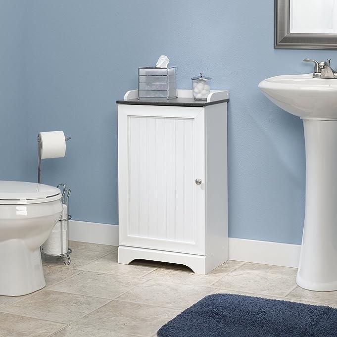 Amazon.com: Sauder Caraway Floor Cabinet in soft white: Kitchen ...