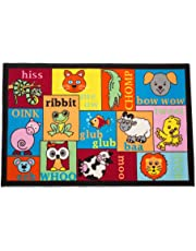 Playmat Play Rug Educational Area Rug for Kids, Babt, Toddler, Juvenile, 31.5x48, Perfect Carpet for Children Bedroom, Playroom, Nursery Room, and Game Room-Animal Sounds
