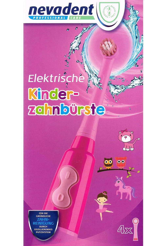 nevadent® Cepillo de dientes eléctrico de niños 273033 nkz 3 A1 + Caja + aufsäzte nuevo rojo: Amazon.es: Salud y cuidado personal