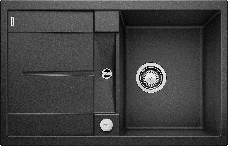 Blanco Metra Silgranit PuraDur Kitchen Sink,Black (anthrazit-schwarz),45cm Base Cabinet