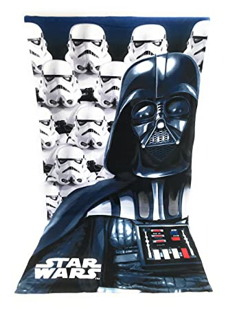 STARWAR Toalla de playa, toalla de playa microfibra - 70 x 140 cm - Star Wars - Disney - Starwars - Dark Vador: Amazon.es: Hogar