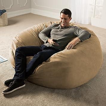 Enjoyable Jaxx 5 Foot Bean Bag Chair Camel Evergreenethics Interior Chair Design Evergreenethicsorg