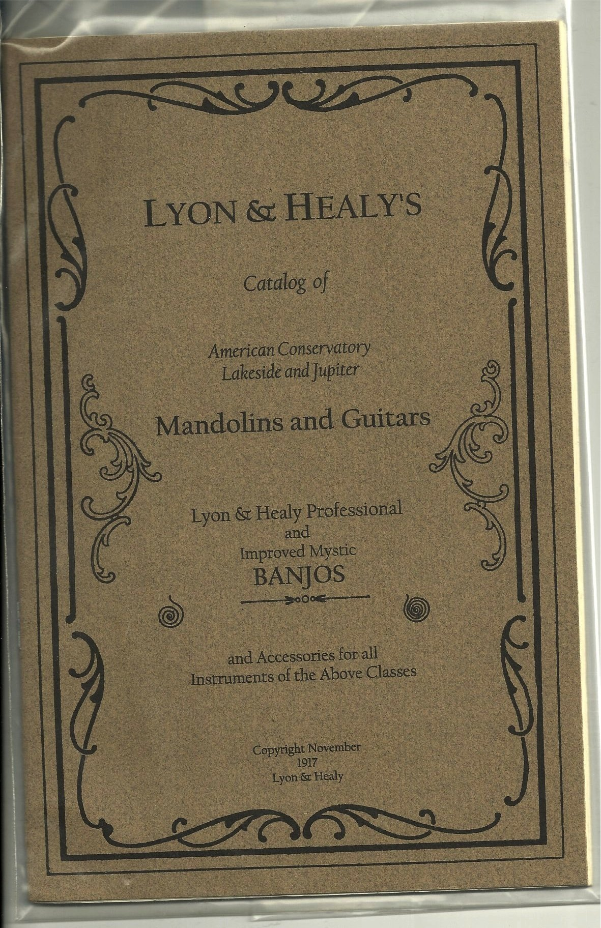 Lyon & Healy's Catalog of American Conservatory Lakeside and Jupiter