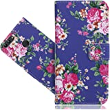 Huawei P smart Case, FoneExpert® Printed Vintage Pattern Leather Kickstand Flip Wallet Bag Case Cover For Huawei P smart