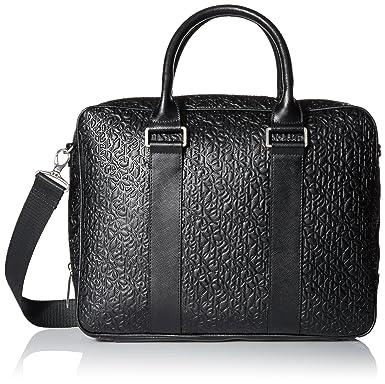 2a4b38e84a6f Amazon.com: Calvin Klein Men's Embossed Saffiano Attache, Black ...