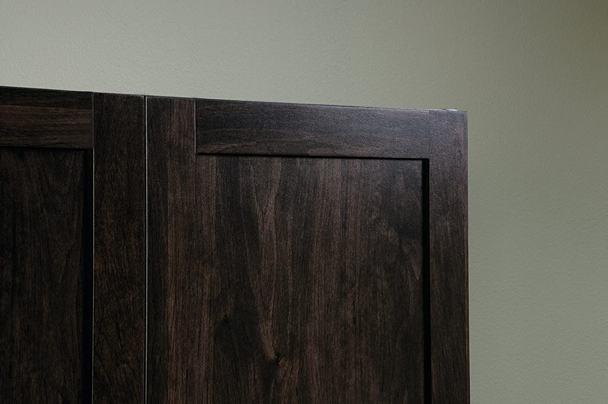 Sauder Storage Cabinet, Cinnamon Cherry Finish