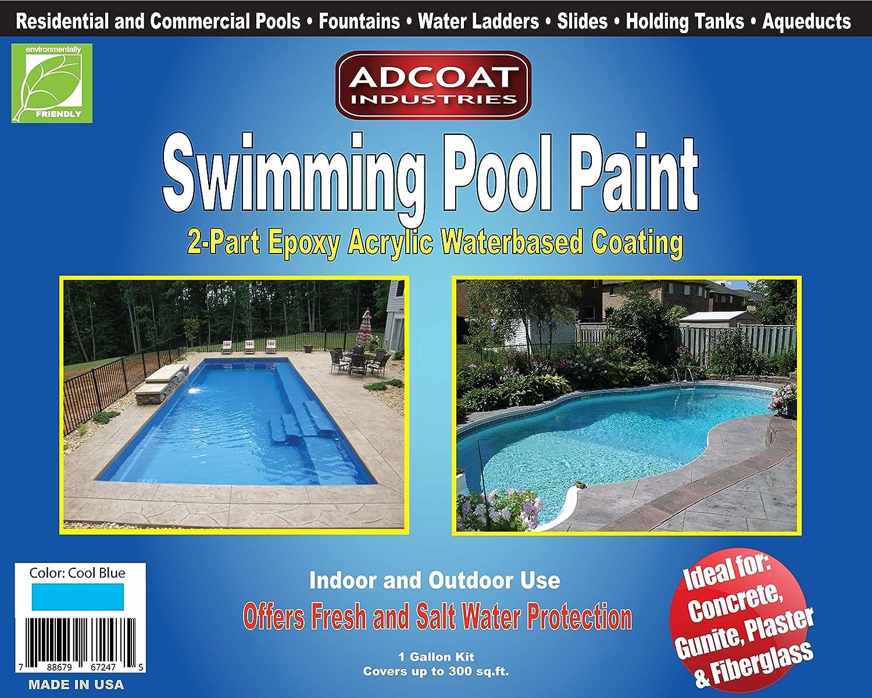 AdCoat 2-Part Epoxy Acrylic Cool Blue Paint