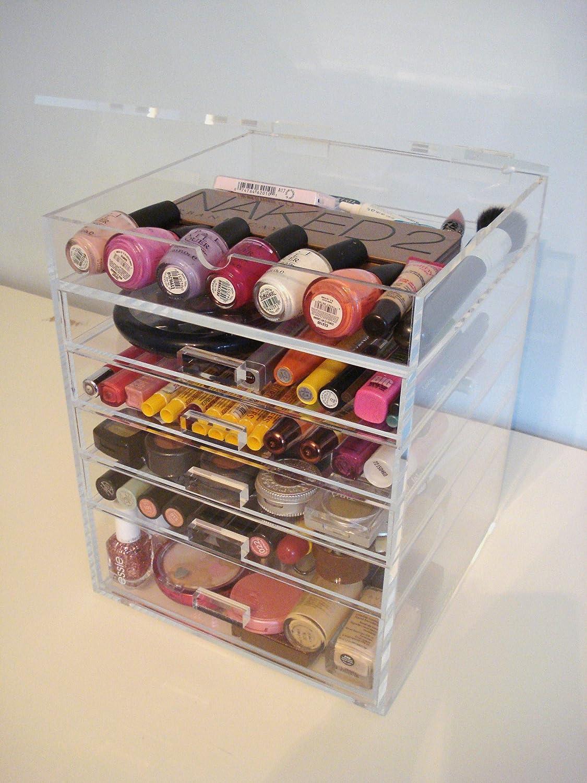Amazon.com : ACRYLIC MAKEUP COSMETICS ORGANIZER 5 DRAWER PLUS 1 LID BEAUTY  CUBE STORAGE (Acrylic Knobs (handles)) : Acrylic Lipstick Organizer : Beauty Part 31