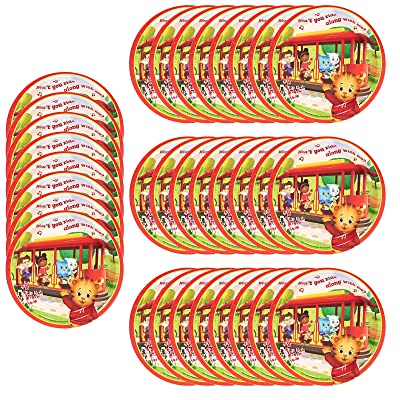 """Daniel Tigers Neighborhood Party Supplies - 7"""" Small Round Dessert Snack Plates 32 Count: Toys & Games"""
