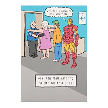 Hallmark Avengers Iron Man Birthday CardHassle Free