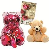 Skylofts Teddy Bear Chocolate Gift Pack With A Teddy Bear And Birthday Card