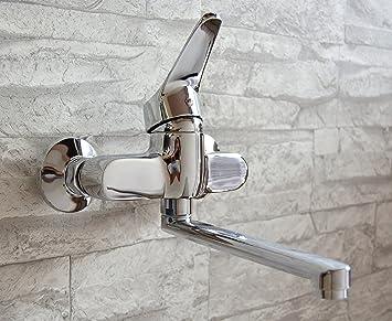 Wand Küchenarmatur / schwenkbarer Auslauf / Wasserhahn Wandmontage ...