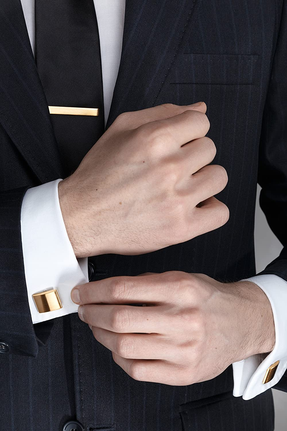 Gift Box His Private Items Cufflinks and Tie Clip Set 3 Couples