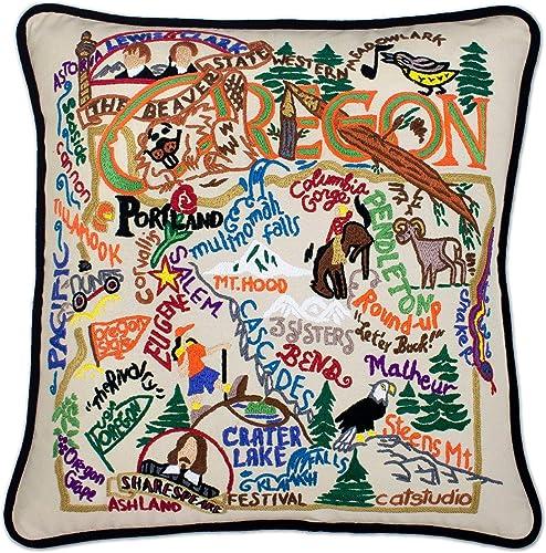 Catstudio Oregon Embroidered Decorative Throw Pillow