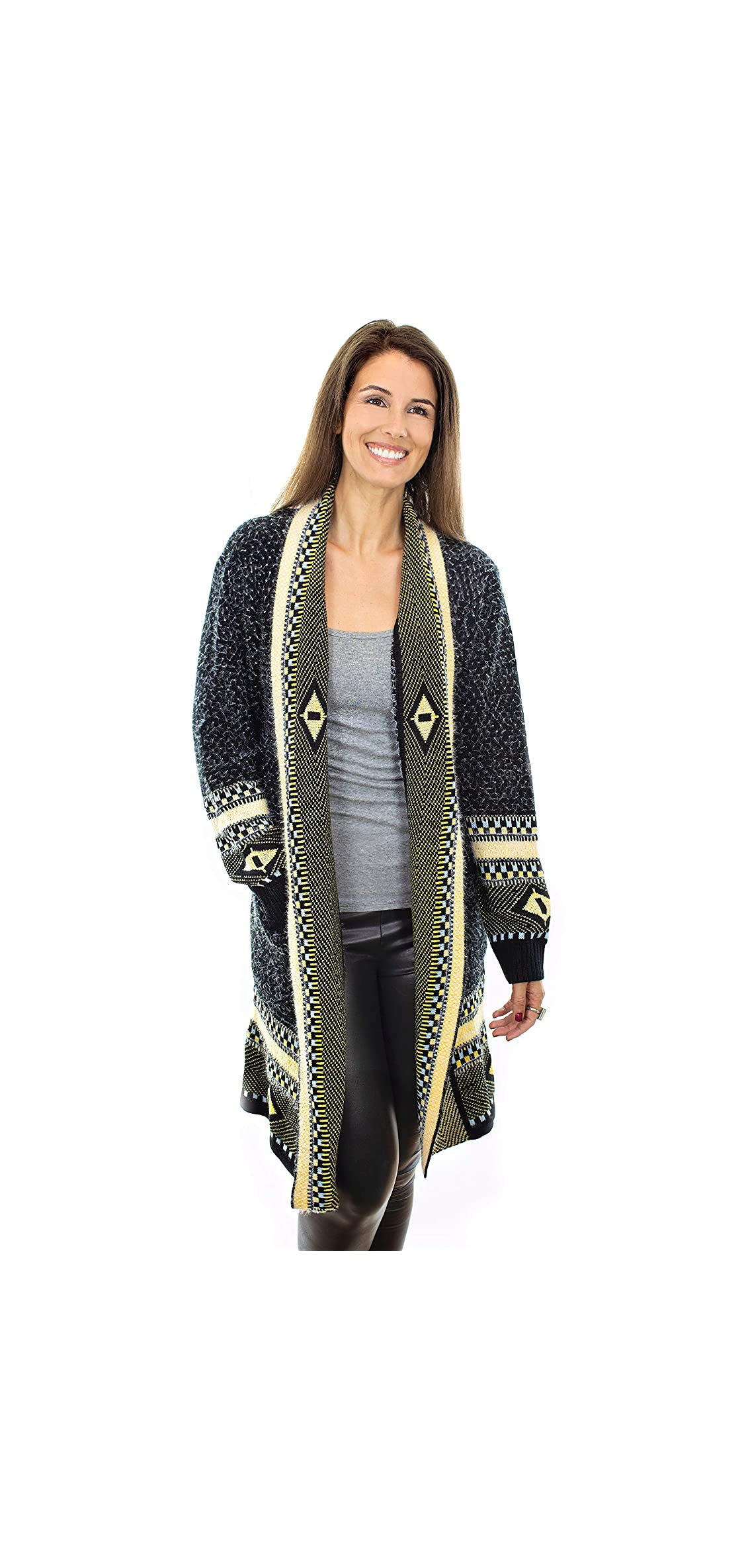 Womens Boho Cardigan Sweaters Long Sleeve Open Maxi