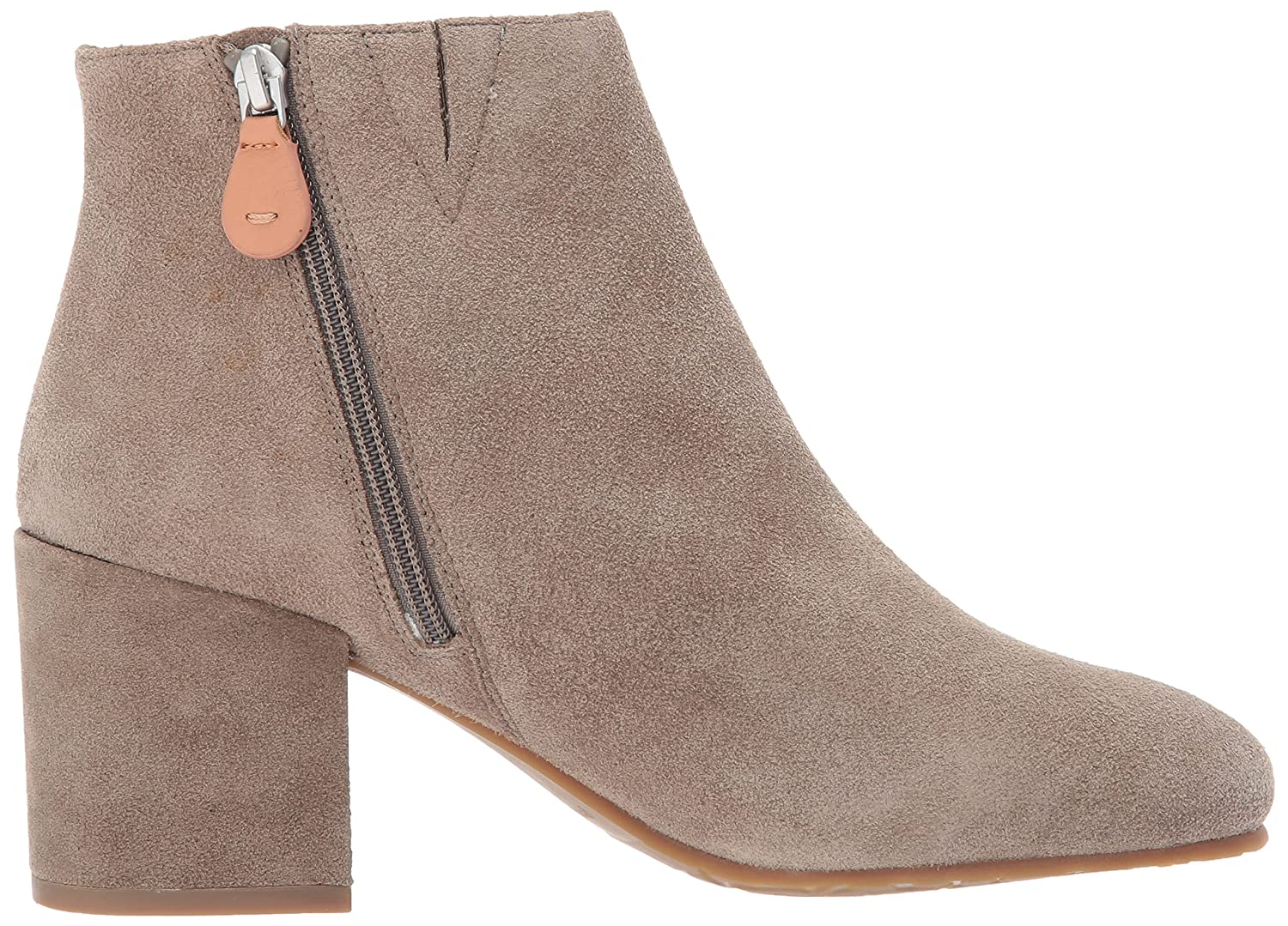Gentle Souls by Kenneth Cole Women's Blaise Ankle Bootie with Side Zip, Covered Block Heel Suede Ankle Bootie B06XXNHC6N 5.5 M US|Sage