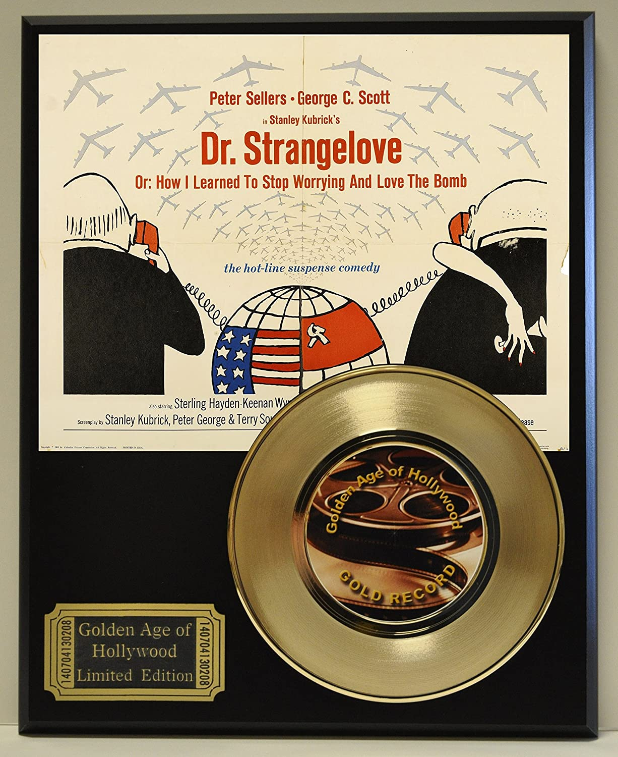 Dr Strangelove Limited Edition Gold 45 Record Display. Only 500 made. Limited quanities. FREE US SHIPPING Classic Rock Collectibles