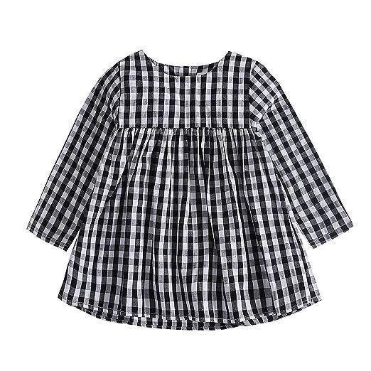 Amazon Com Baywell Baby Girl Plaid Dress Toddler Girl S Typical