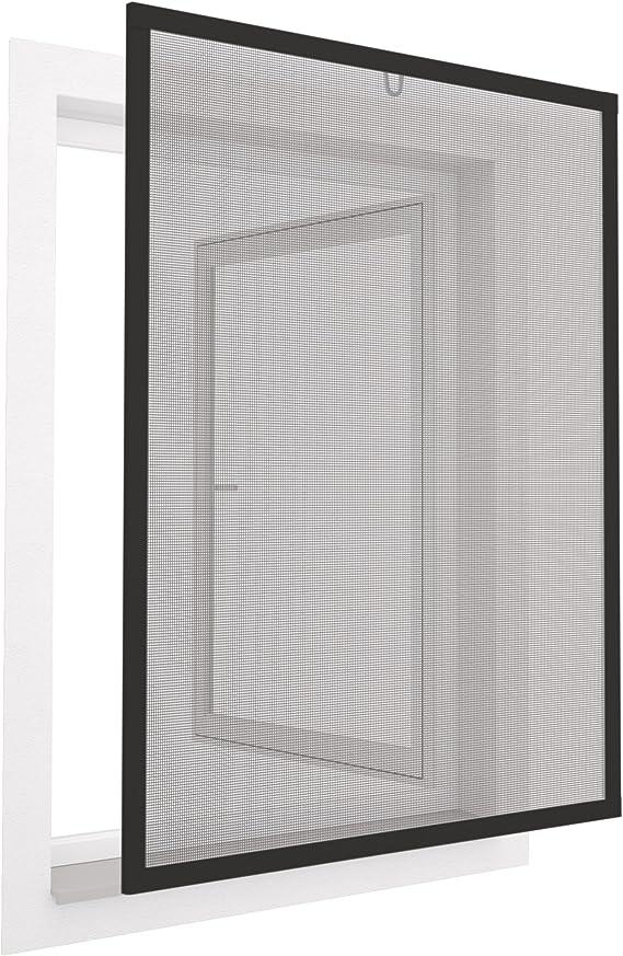 Mosquitera con marco de aluminio para ventanas easyLINE- 130 x 150 cm - gris: Amazon.es: Bricolaje y herramientas