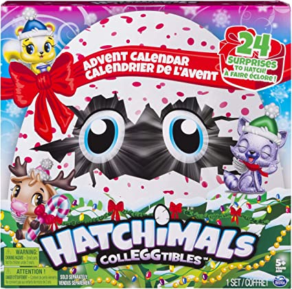 NEW Hatchimals Colleggtibles Christmas Advent Calendar 2018 Yellow Squirrel