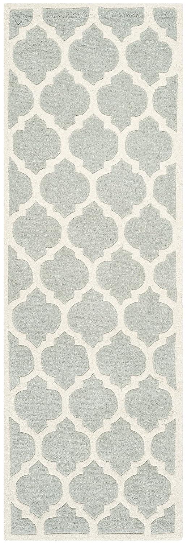 Safavieh Camilla handgetufteter Teppich - CHT734E - Grau - Elfenbein - 68 X 213  cm